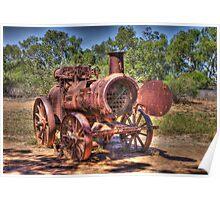 Steam Engine, Minilya, WA Poster