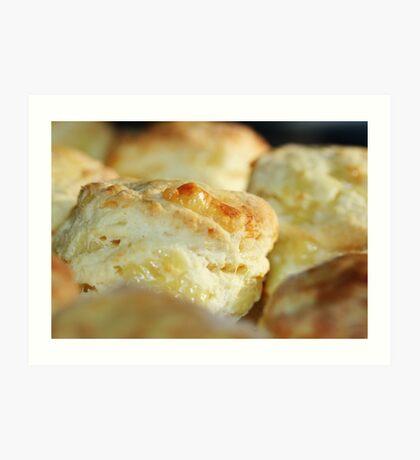 Scrumptious warm cheese scones Art Print