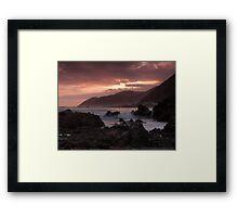 Wellingtons wild south coast Framed Print