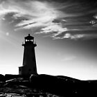 Peggy's Cove Contrast by Charles Plant