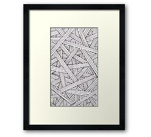 Abstract Woven Framed Print