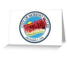 Moreno Valley Redrum Greeting Card