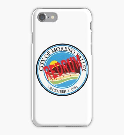 Moreno Valley Redrum iPhone Case/Skin