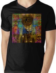 Sekhmet Fantasy Mens V-Neck T-Shirt