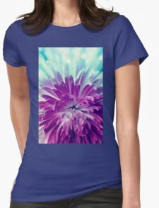 Purple flower Womens Fitted T-Shirt