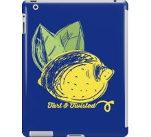 hand drawn sketch lemons tart and twisted iPad Case/Skin