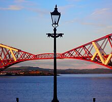 Streetlight & Forth Rail Bridge ~ South Queensferry  by ©The Creative  Minds