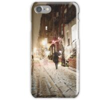 Snowy Night - Lower East Side - New York City iPhone Case/Skin
