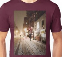 Snowy Night - Lower East Side - New York City Unisex T-Shirt
