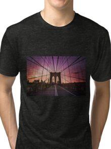 Brooklyn Bridge Sunset Tri-blend T-Shirt
