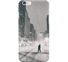 Snowstorm - New York City iPhone Case/Skin