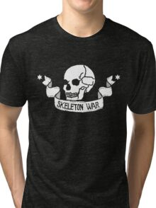 Skeleton War Emblem - For Dark Shirts Tri-blend T-Shirt