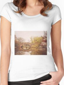 Beautiful Springtime Landscape - Central Park - New York City Women's Fitted Scoop T-Shirt