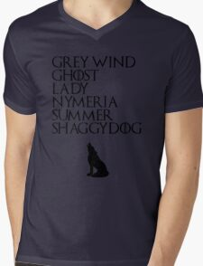 Stark Direwolves Mens V-Neck T-Shirt