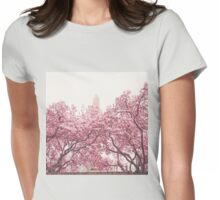 Cherry Blossoms - Central Park - New York City Womens Fitted T-Shirt