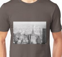 New York City - Snow Falls - Chrysler Building Unisex T-Shirt