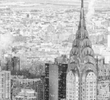 New York City - Snow Falls - Chrysler Building Sticker