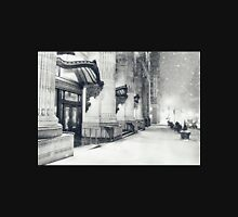 Winter Night - Snow Falls in the Big Apple - New York City Womens Fitted T-Shirt