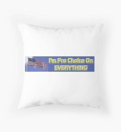 Pro Choice Throw Pillow