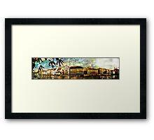 Zurich riverview Framed Print