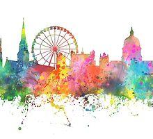 Nottingham England Skyline by Marlene Watson