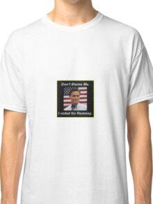 I Voted Romney Classic T-Shirt