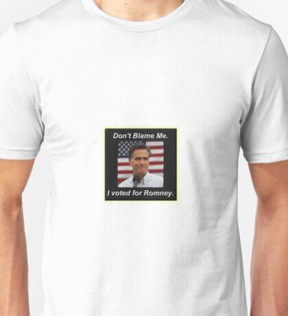 I Voted Romney Unisex T-Shirt