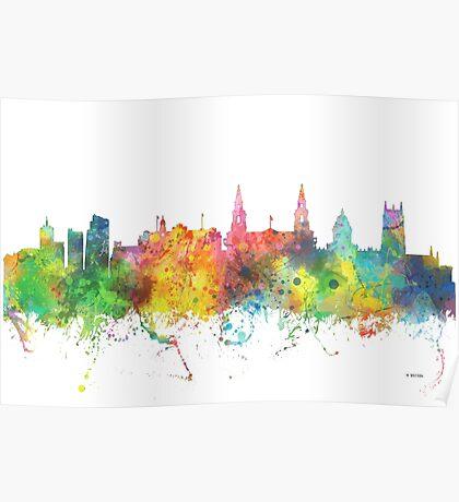 Leeds, England Skyline Poster