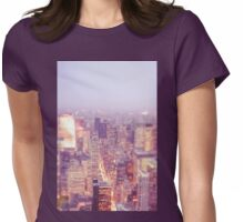 New York City - Skyline - Dusk Womens Fitted T-Shirt