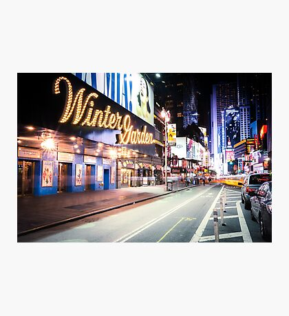 Times Square and Broadway at Night - New York City Photographic Print