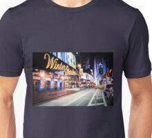 Times Square and Broadway at Night - New York City Unisex T-Shirt