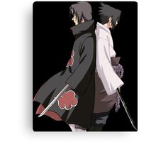 naruto shippuden sasuke itachi uchiha anime manga shirt Canvas Print