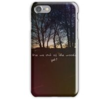 Taylor Swift 'Are we out of the woods yet?' song lyric iPhone Case/Skin