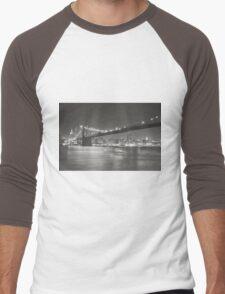 City Night - New York - Brooklyn Bridge Men's Baseball ¾ T-Shirt