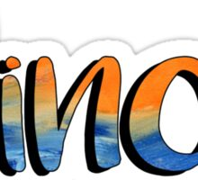 Illinois - orange and blue Sticker