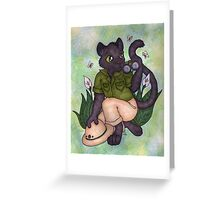 Panther On Safari Greeting Card