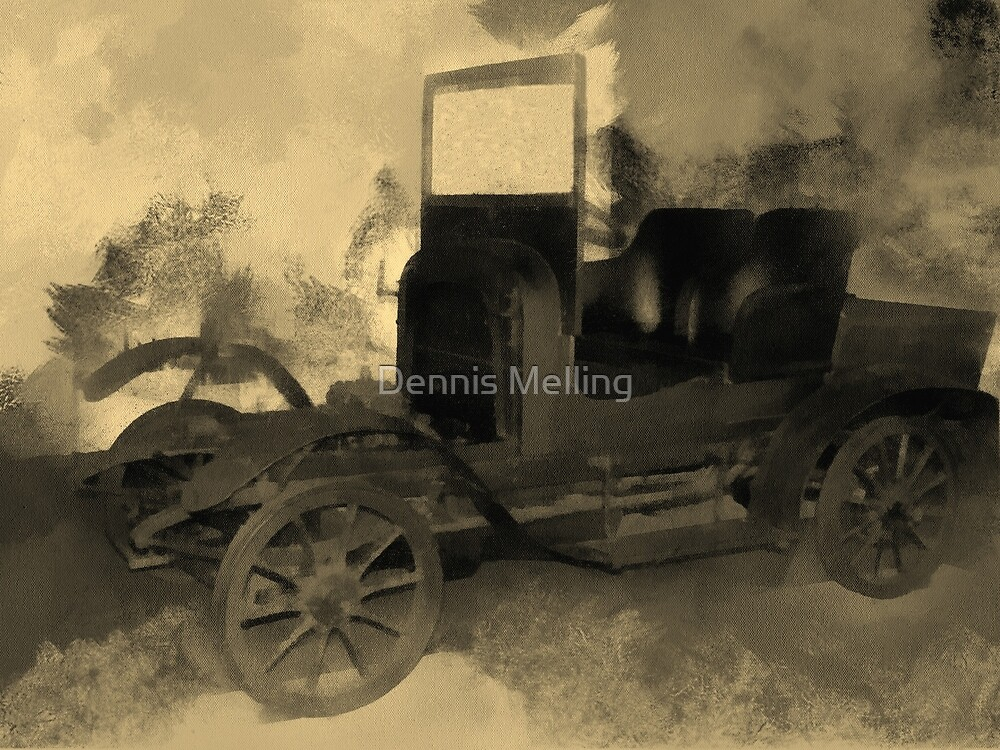 The Car used by King Carol of Romania 1917 by Dennis Melling