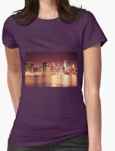 New York City - Night Lights Womens Fitted T-Shirt