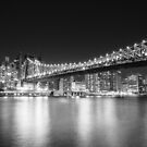 New York City - Queensboro Bridge - Night by Vivienne Gucwa