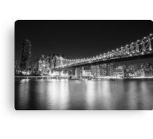 New York City - Queensboro Bridge - Night Canvas Print