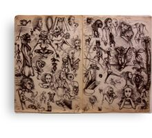 Sketchbook Diary 1982 Canvas Print