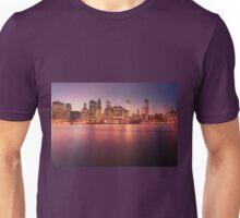 New York City Night Skyline Unisex T-Shirt