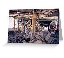 Wheels of Carts & Wagons Greeting Card