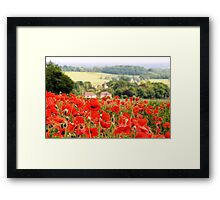Poppies along the Downs Framed Print
