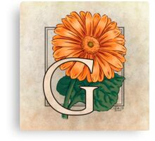 G is for Gerbera Canvas Print