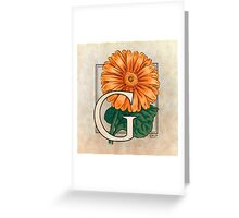 G is for Gerbera Greeting Card