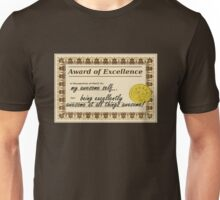 Awesome Award Of Excellence Unisex T-Shirt