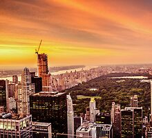 New York City Skyline Sunset by Vivienne Gucwa