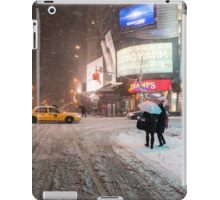 Times Square in the Snow - Winter in NYC iPad Case/Skin