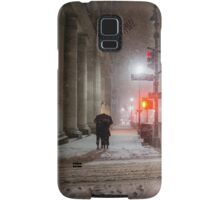 Winter Romance - Snowy Night in New York City Samsung Galaxy Case/Skin
